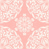 Seamless pink pattern with circles Stock Photography