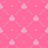 Seamless pink pattern decor Stock Photography