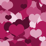 Seamless Pink pattern for a Valentine Day. Can be used for a Love Valentine Letter, Card, Valentines day Celebration, design. Seamless Texture can be used for Stock Image