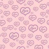 Seamless Pink pattern for a Valentine Day. Can be used for a Love Valentine Letter, Card, Valentines day Celebration, design. Seamless Texture can be used for Royalty Free Stock Photos