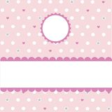 Seamless pink pattern, wallpaper. Digital scrapbook royalty free illustration