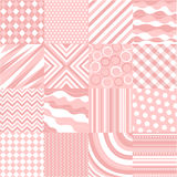 Seamless pink patterns with fabric texture stock illustration