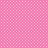 Seamless pink polka dot background Royalty Free Stock Photo