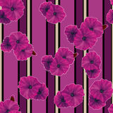 Seamless pink poppy flowers pattern background Stock Photo