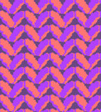 Seamless pink and purple knitting pattern Stock Images