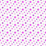 Seamless Pink, Purple and White Spot Pattern Royalty Free Stock Photo