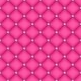 Seamless pink quilted background with pins. Royalty Free Stock Photography