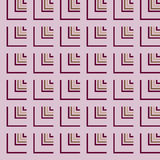 Seamless Pink, Red Abstract Modern Pattern Stock Images