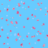 Seamless Pink Rose Petals Pattern Stock Image