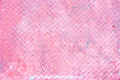 Seamless pink steel diamond plate texture Stock Image