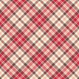 Seamless pink tartan Stock Images