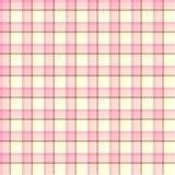Seamless pink tartan texture Stock Images