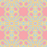 Seamless Pink Wallpaper. Pattern with yellow, orange and blue candy colors Royalty Free Stock Photos