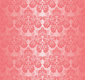 Seamless pink wallpaper - Ornament with roses Stock Photos
