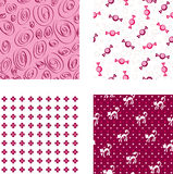 Seamless pink wallpapers Royalty Free Stock Images