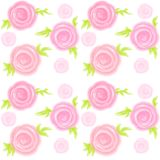 Seamless pink watercolor roses seamless pattern background royalty free illustration
