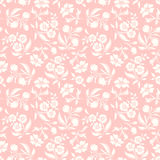 Seamless pink and white floral pattern. Vector illustration. Stock Photos