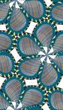 Seamless Pinwheel Flower. Seamless striped and jagged edge pinwheel flower pattern Stock Photography