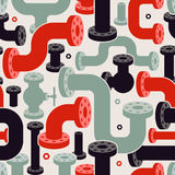 Seamless Pipe Elements Pattern. Modern Vector Illustration Royalty Free Stock Photos