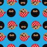 Seamless Pirate and Ninja background tile. Seamless and repeatable background tile with Ninjas and Pirates Royalty Free Stock Photography