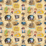 Seamless pirate pattern Stock Image