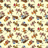 Seamless pirate pattern Stock Photos