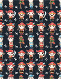 Seamless pirate pattern. Drawing Stock Images