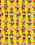 Seamless pirate pattern Royalty Free Stock Image
