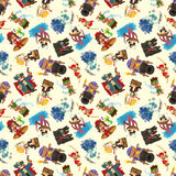 Seamless pirate pattern Stock Images