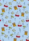 Seamless pirates Royalty Free Stock Photos
