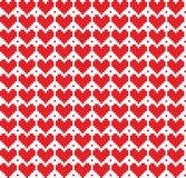 Seamless pixel hearts background Royalty Free Stock Images