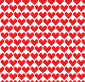 Seamless pixel hearts background Royalty Free Stock Photos
