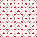 Seamless pixel hearts pattern Stock Photos