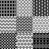 Seamless pixel patterns set Royalty Free Stock Images