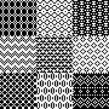 Seamless pixel patterns set Royalty Free Stock Images