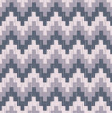 Seamless pixelated zig zag wallpaper background Royalty Free Stock Images
