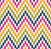 Seamless pixelated zigzag pattern Stock Images