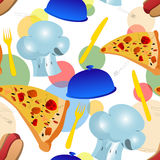 Seamless pizza and food background Stock Image