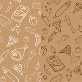 Seamless pizza mönstrar Arkivfoto