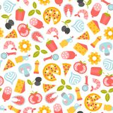Seamless pizza pattern Royalty Free Stock Photography