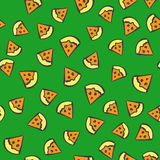 Seamless pizza pattern Stock Images