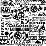 Seamless Pizza pattern Royalty Free Stock Photos