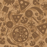 Seamless Pizza pattern Royalty Free Stock Photo