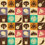 Seamless Pizza pattern Royalty Free Stock Image