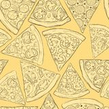 Seamless pizza pattern. Stock Photography