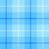 Seamless Plaid fabric texture cells with stripes Scotland patter. N light blue stock illustration