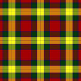 Seamless plaid pattern. Red, green and yellow seamless plaid pattern illustration Stock Image