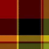 Seamless plaid pattern. Red and yellow  seamless plaid pattern illustration Stock Photography