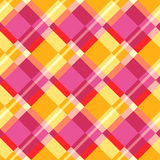 Seamless plaid pattern. In warm colors Stock Image