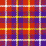 Seamless plaid pattern in red, purple, white and  yellow. Seamless plaid pattern in red, purple, white and yellow Stock Photo